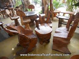 Wooden Table Chairs Root Wood Furniture Set Including Chairs And Table Teak Wood Table