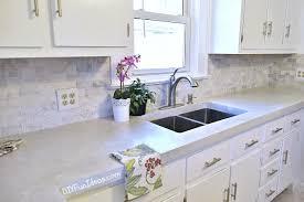 Concrete Kitchen Countertops 10 Inexpensive But Amazing Diy Countertop Ideas White Concrete