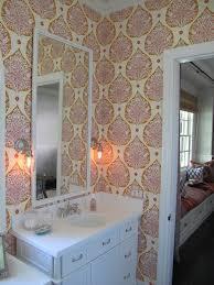 Katie Ridder Katie Ridder Leaf Wallpaper Contemporary Bathroom Urban