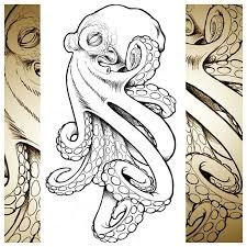 evil octopus realistic tattoo sketch best tattoo ideas gallery