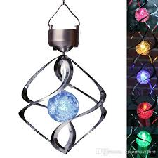 solar powered wind chime light 2018 changing solar power stainless wind chime moving rotating led