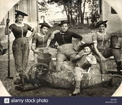 people women maids on a farm bavaria germany circa 1910