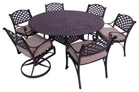 Piece Patio Dining Set Round Table Amazing Bedroom Living - 7 piece outdoor dining set with round table