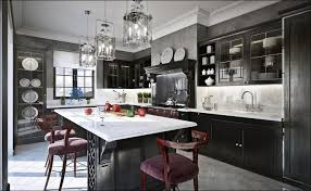 kitchen grey cabinets with white countertops black kitchen