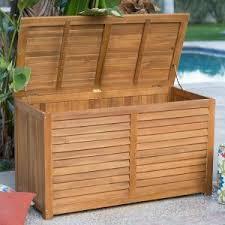 best outdoor wooden storage boxes