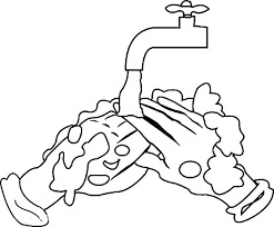 Hand Washing Coloring Sheet - cleaning remaining soap hand washing coloring pages cleaning 16954