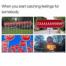 Catching Feelings Meme - when you start catching feelings for somebody meme xyz