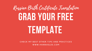 russian birth certificate translation grab your free template