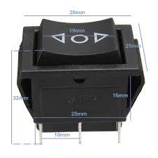 volt 6 pin dpdt power window momentary rocker switch ac 250v 10a