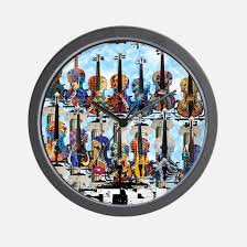 violin clocks violin wall clocks large modern kitchen clocks
