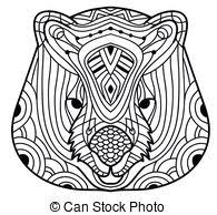 vector illustration of marsupials animals cartoon coloring page