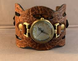 bracelet leather watches images Leather watch brown watch cuff watch women watch women wrist watch jpg