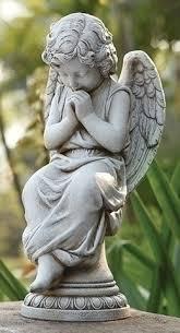 seated on pedestal for garden or grave site beattitudes