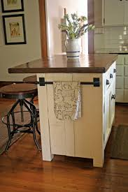 white wooden kitchen islands with brown wooden counter top plus