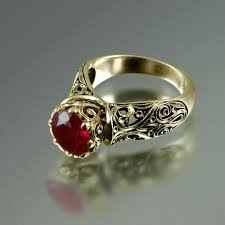 ruby engagement rings vintage style ruby and diamond engagement ring u2013 eternity jewelry