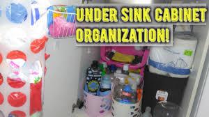Under Kitchen Sink Cabinet Under Kitchen Sink Cabinet Organization Youtube