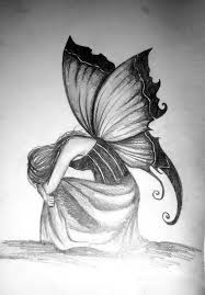photo collection pin sad fairy drawing
