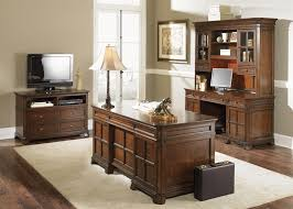 Executive Desk And Credenza Remington Jr Executive Desk In Brown Whiskey Finish By Liberty