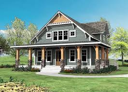 craftsman with wrap around porch 500015vv architectural