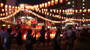 outside party bonodori japanese dance party outside