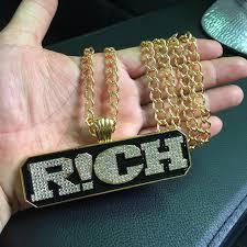 aliexpress buy nyuk new fashion american style gold nyuk new arrival pendant necklace cool letter rich pendants hip hop