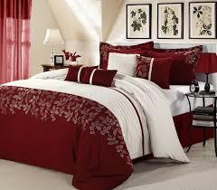 Burgundy Duvet Sets 8pc Luxury Bedding Set Genesis Burgundy White Blowoutbedding Com