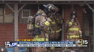 Arizona Firefighters Association scottsdale family loses two pets in house fire youtube