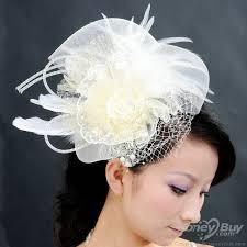 hair corsage white pearl feather big headdress flower corsage hair