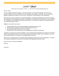 Best Operations Manager Resume Example Livecareer by Pretentious Idea Operations Manager Cover Letter 7 Sample Cv