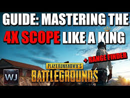 pubg 4x guide guide mastering the 4x scope like a king rangefinder in