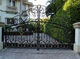 wrought iron fence gates design with elegant design home