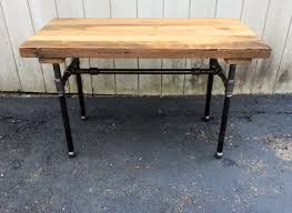 the butchers choice reclaimed wood bar table butcher block zoom