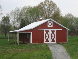 Red Barn Plans Decorations Using Interesting 30x40 Pole Barn For Appealing