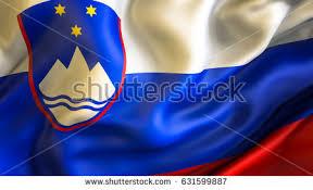slovenia flag 3d waving flag design stock illustration 631599887