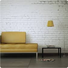 buy removable wallpaper online white brick design