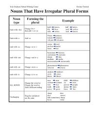 a list of 100 irregular plural nouns in english irregular