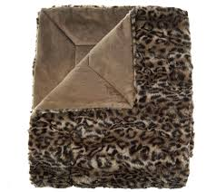 Leopard Print Faux Fur Throw Dennis Basso 68x60 Oversized Sculpted Faux Mink Throw Page 1