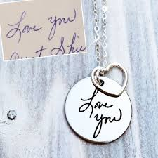 custom handwriting necklace custom handwriting shine these for s day gifts for