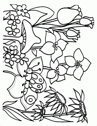 flower printable coloring sheets spring coloring pages