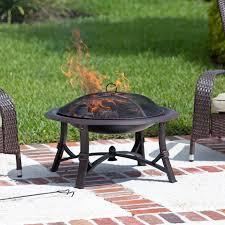 fire sense augusta 30 in wood burning fire pit hayneedle