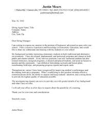 sample cover letters for teaching middle math teacher