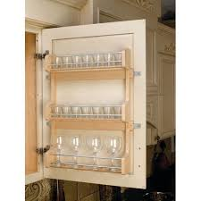 cabinet door mounted spice rack rev a shelf 4sr 21 4sr series door mount spice rack for 21 wall
