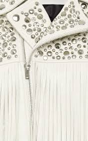 white leather motorcycle jacket studded leather motorcycle jacket by rodarte moda operandi