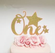 one cake topper gorgeous pink twinkle gold one cake toppers 1st