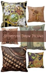 quirky steampunk throw pillows a happy splash of color