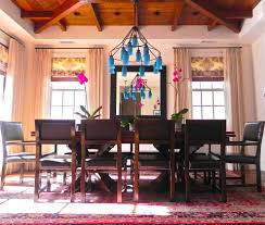 transitional chandeliers for dining room area rug layered drapery eclectic los angeles with glass shade