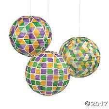 mardi gras paper gras hanging paper lanterns