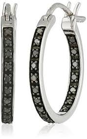 black diamond hoop earrings black diamonds no one even knows what they are jewlery