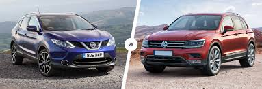volkswagen suv tiguan nissan qashqai vs vw tiguan suv comparison carwow