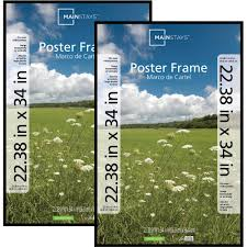 Mounting Posters Without Frames Mainstays 24x36 Basic Poster U0026 Picture Frame Black Set Of 2